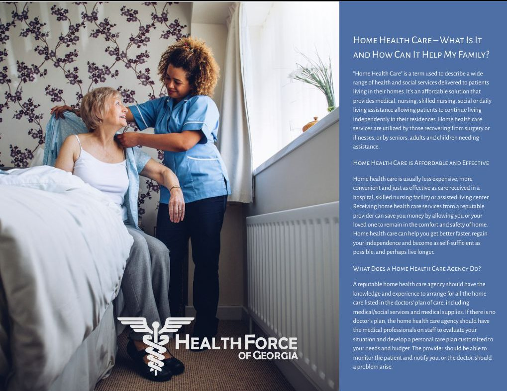 Choosing a Home Health Care Provider Brochure