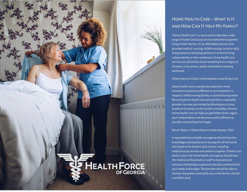 Choosing a Home Health Care Provider Brochure