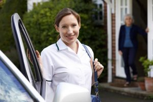 Home Health Care Worker and Senior