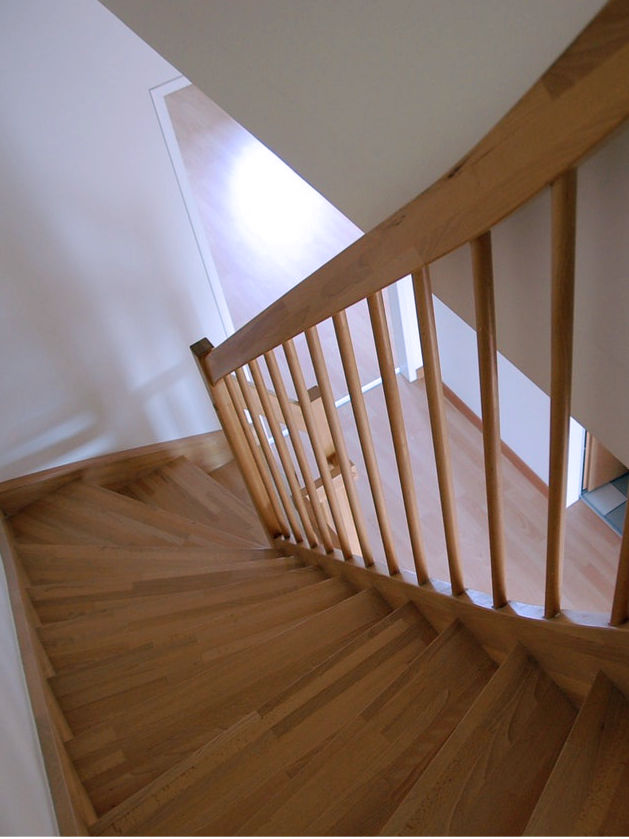 Add railings on both sides of stairs for safety