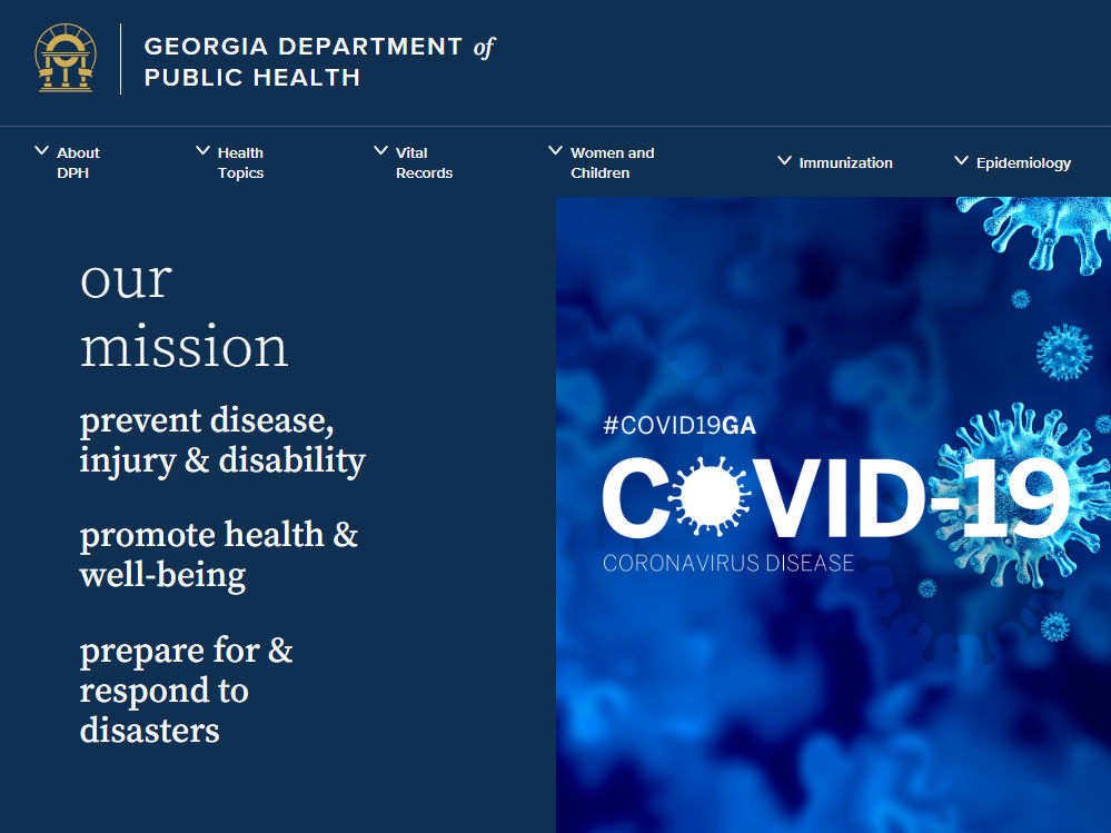 GA Department of Public Health - COVID-19 Coronavirus