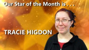 HFGA Star of the Month is Tracie Higdon